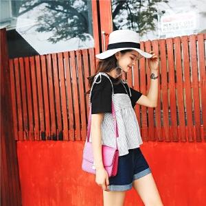 七格格 背心女夏外穿无袖上衣女夏2018新款女港味复古chic吊带小清新上衣