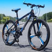 山地车自行车一体轮21/24/27速双碟刹26寸变速学生男越野单车新品
