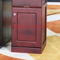 文件柜矮柜实木储物五斗柜子办公室收纳带锁柜抽屉移动木质资料柜 15mm