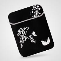 手提笔记本电脑内胆包保护套13.3 14 15.6寸华硕戴尔三星平板男女 印花黑色(无拉链款) 10寸