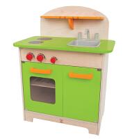 【特惠】Hape美食家厨房3岁以上婴幼玩具过家家玩具厨房情景模拟多人互动类 无配件 E3101