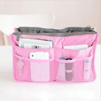 普润 包中包内胆包收纳袋化妆包便携洗漱袋女包手拿收纳包 粉色