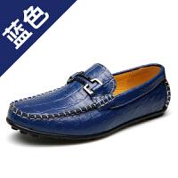 CUM 豆豆鞋男鳄鱼纹驾车鞋大码3847休闲鞋青春潮流英伦单鞋