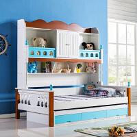 韩式儿童床双层床青少年男孩卧室家具板式衣柜床