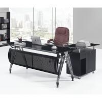 办公家具老板桌大班台钢化玻璃办公桌总载桌简约现代经理桌主管桌