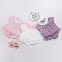 女童洋气套装女宝宝公主裙子婴儿夏装婴幼儿12夏天衣服0-3个月1岁