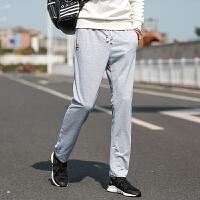 秋季运动裤男士长裤宽松直筒夏季薄款潮流裤子韩版收口修身休闲裤
