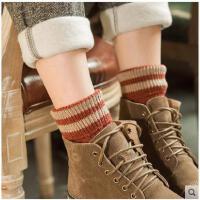 袜子女士棉袜羊毛袜加厚加绒保暖毛巾袜秋冬款中筒冬季韩版学院风