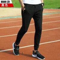 运动裤男长裤收口显瘦小脚针织卫裤修身健身跑步透气大码