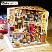 若态3d立体木质拼板创意diy小屋玩具礼品纯手工创意模型山姆书店