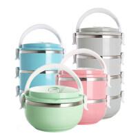 日式不锈钢大容量保温桶饭盒多层分格学生3便当盒1儿童2双层4餐盒