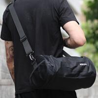 运动训练包男中学生背包单肩斜挎包休闲多功能挎包行李包旅行包 黑色