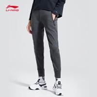 李宁卫裤女士新款韦德长裤裤子女装冬季平口针织运动裤AKLN924
