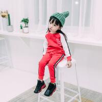 2018春季新款儿童洋气运动套装男童时尚韩版女童春装小童1宝宝3岁