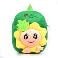 韩版卡通可爱幼儿园儿童书包1-6岁男女童双肩毛绒背包宝宝小书包