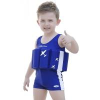 儿童泳衣小女孩中大男童宝宝婴儿救生渡假游泳速干连体浮力衣