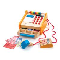 Hape小卖部收银台3-6岁儿童过家家益智玩具创意收纳婴幼玩具E3121
