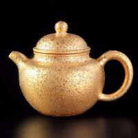 宜�d紫砂�卦��V老紫泥�手工家用大�泡茶�丶�金鎏金茶����