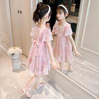 儿童裙子女童夏装夏季女孩连衣裙雪纺中大童公主裙