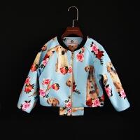 2018秋冬新款女童夹克衫棒球服儿童长袖立领外套宝宝上衣母女装