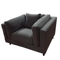 亚麻布艺三人位 客厅沙发组合 北欧复古风 羽绒沙发软包