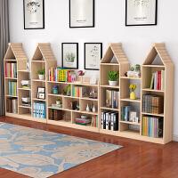 实木书架置物架多层创意小书架简书柜简易落地书架组合