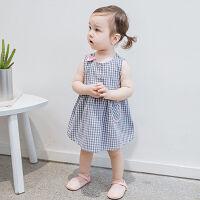 连衣裙夏装背心裙中小女童新款无袖裙子薄款外穿