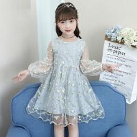 女童夏装2018新款洋气裙子蓬蓬纱大童公主连衣裙夏季韩版儿童裙子