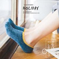 袜子女加厚保暖加绒韩版学院风日系船袜女地板袜珊瑚绒袜毛巾袜