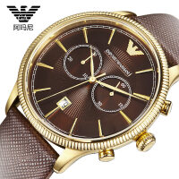 Armani 阿玛尼时尚皮带石英中性手表休闲防水中性腕表手表常规
