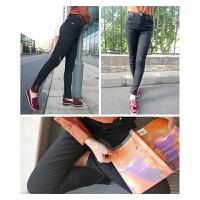 欧美大网红裤 修身小脚裤 女士铅笔裤 红拉链牛仔裤 自带芳香