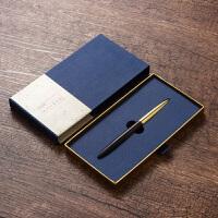 签字笔定制 商务金属黄铜黑檀木质中性笔公司年会商务礼品定制logo送客户