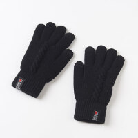 全手五指加厚保暖防寒针织触屏 男士手套冬季保暖 双层毛线手套男