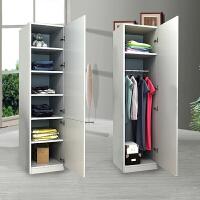 简易单门衣柜实木收纳柜出租房公寓储物柜定制单双人一门衣柜