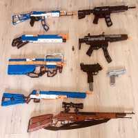 可发射绝地求生吃鸡武器机械玩具积木AWM枪男孩成人高难度HKM416