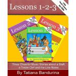 【预订】Little Music Lessons for Kids, Lessons 1-3 Three Cheerf