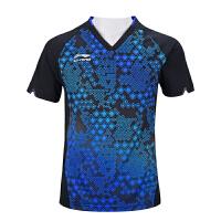 李宁2018年乒乓球服套装男短袖乒乓球衣中国乒乓球国家队队服