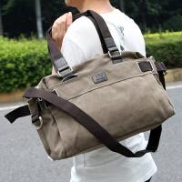 帆布包男士单肩斜挎包运动学生手提休闲韩版大包包复古旅行书包潮