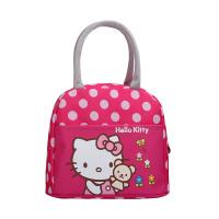 可爱卡通饭盒袋便当包小学生手提帆布保温袋子装午餐包带饭包