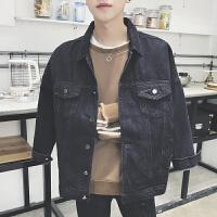 牛仔外套男春季韩版潮流帅气牛仔衣青少年学生风宽松休闲夹克男