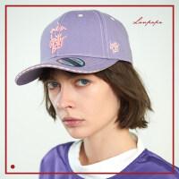 紫色帽子女棒球帽帽子女 鸭舌帽女 遮阳帽潮棉韩版棒球帽女