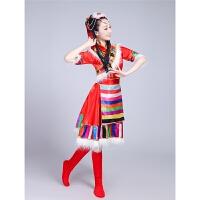 新款藏族舞蹈演出服装女水袖蒙古服装女儿童少数民族风表演服