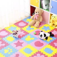 泡沫地垫拼接儿童加厚拼图爬爬行垫家用卧室榻榻米海绵垫子 30x30x1.0cm