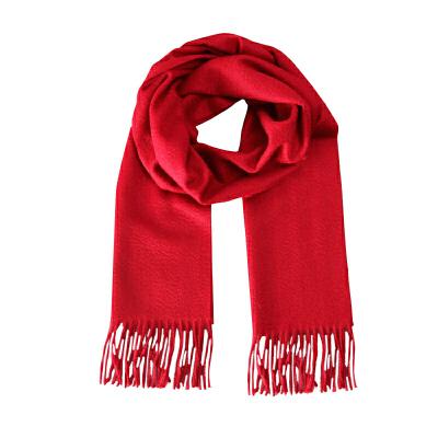 上海故事女士男士纯色羊绒围巾披肩围脖加厚时尚百搭秋冬长新款
