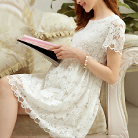 美琳妈咪 孕妇装夏装新款韩版时尚孕妇连衣裙春夏款蕾丝孕妇裙短袖 4948