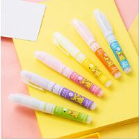 【新品】得力33376皮卡丘系列荧光笔涂改笔标注标记彩色笔涂鸦笔荧光笔记号笔