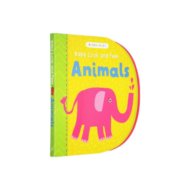 【英文原版】Bloomsbury Baby Look and Feel Animals 儿童早教启蒙造型纸板书