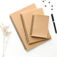 日记本牛皮纸线圈活页记事本素描本空白速写涂鸦本子