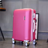 学生行李箱子母箱万向轮拉杆箱硬韩版旅行箱20寸登机箱24寸26潮包 亮玫红 【单箱】 20寸