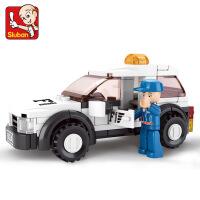 【品牌授权】小鲁班F1方程式赛车系列儿童益智拼装积木玩具 F1安全车M38-B0350